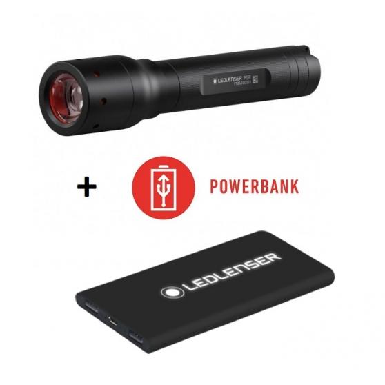 Ledlenser P5R+powerbank, nabíjateľná baterka