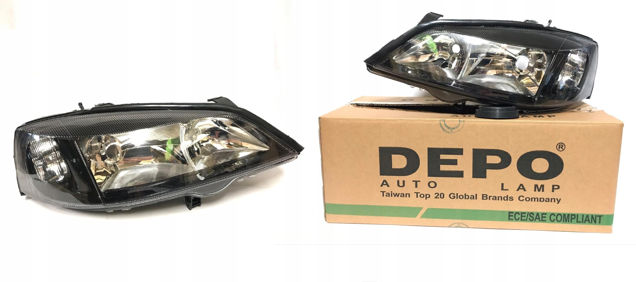 opel astra ii g depo черный новые лампы комплект