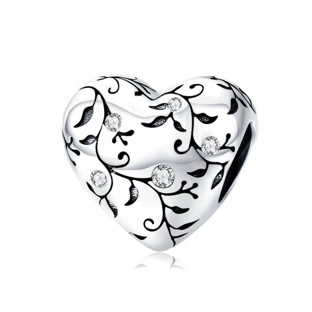 CHARMS HEART RETRO, SILVER S925, PRE PANDORU