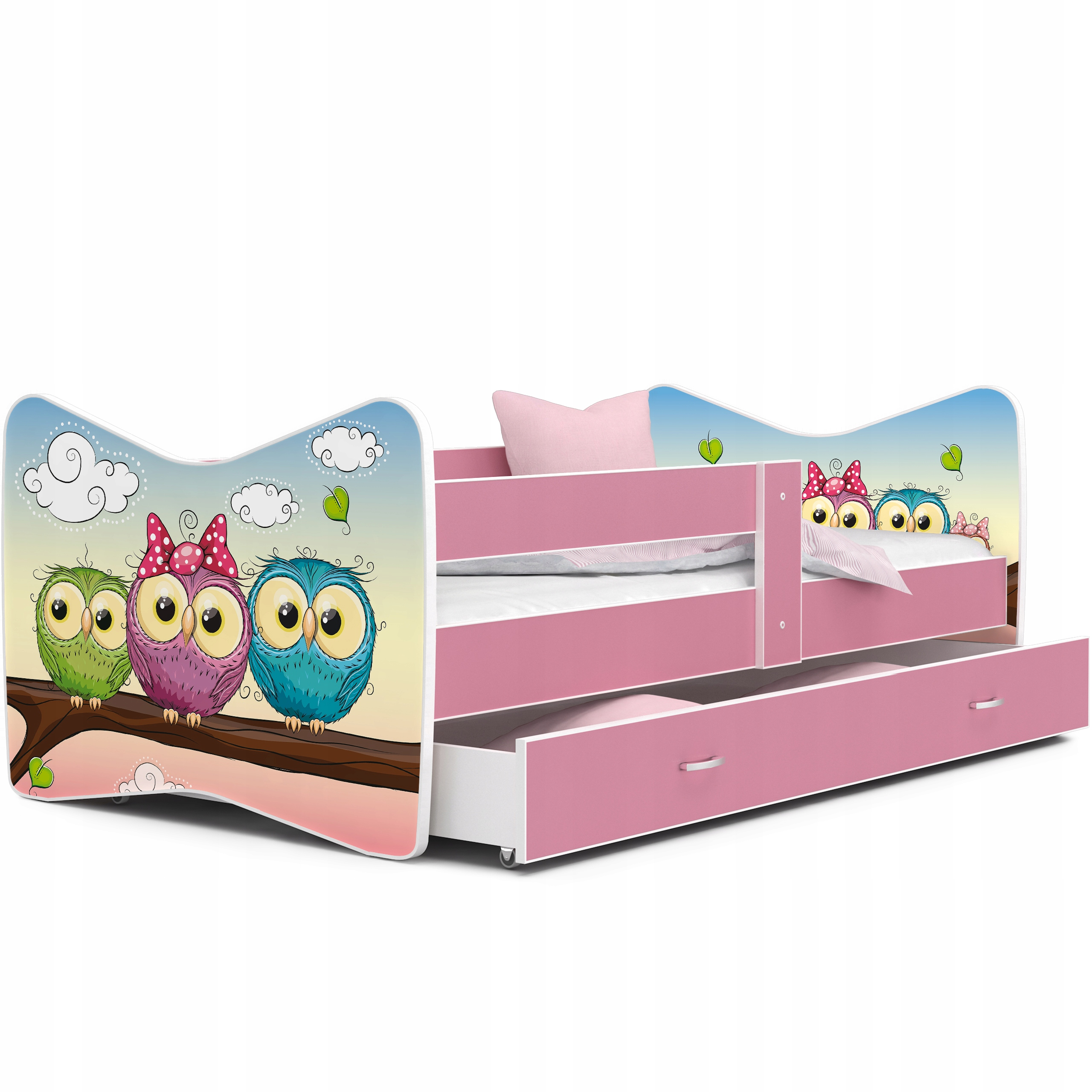łóżko TOMI COLOR 140x70 szuflada materac barierka