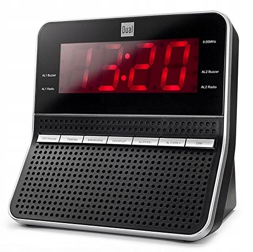 RADIO CLOCK RADIOBUDZIK DUAL CR09 BLACK / SILVER