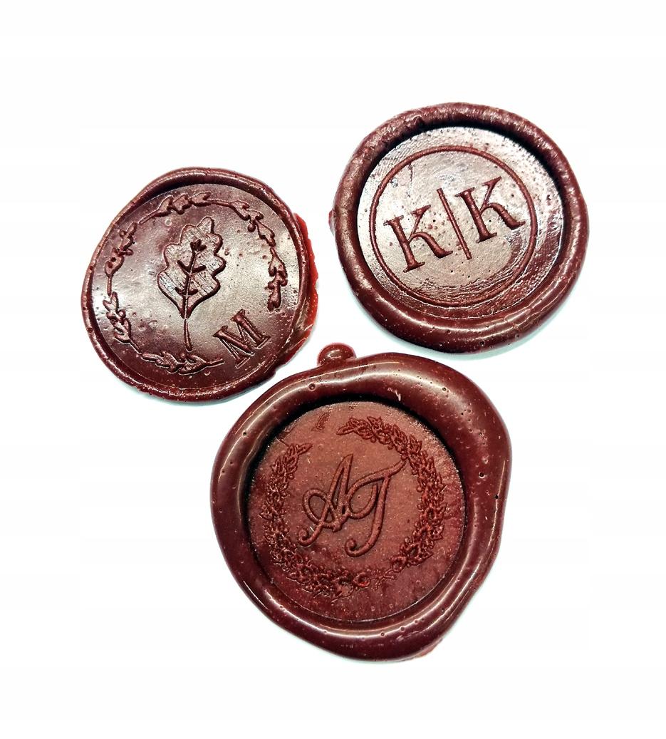 Referentka mosiądz 65mm pieczęć do laku lak gratis Kształt Okrągła