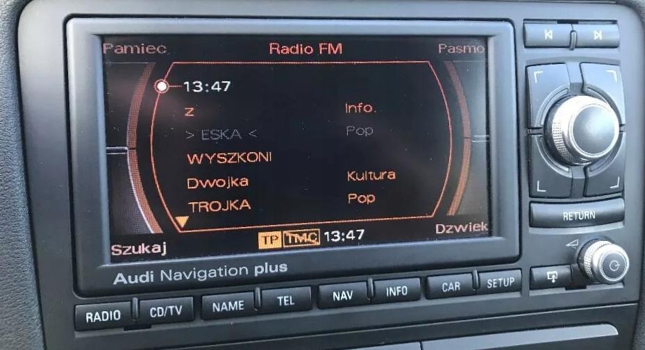 польские меню pl audi rns-e a3 8p a4 b6 b7 a6 c5 tt