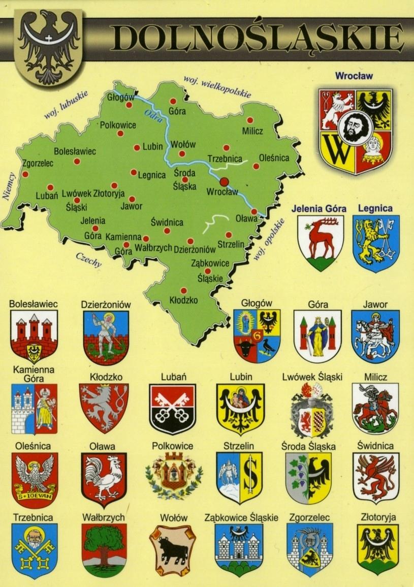 Купить НИЖНЕСИЛЕЗСКОЕ КАРТА ГЕРБЫ WR802 10 шт. на Otpravka - цены и фото - доставка из Польши и стран Европы в Украину.