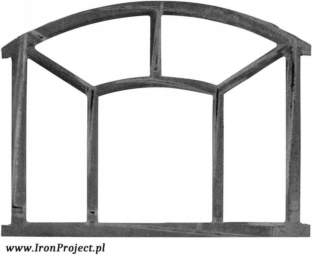 NOVÉ okno liatiny retro veľké polkruhová 62,5x48cm