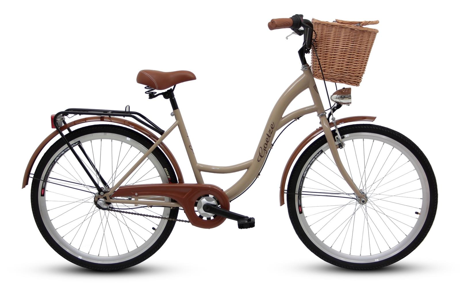 Dámsky mestský bicykel GOETZE 26, 3-rýchlostný kôš zadarmo!  Farba iná