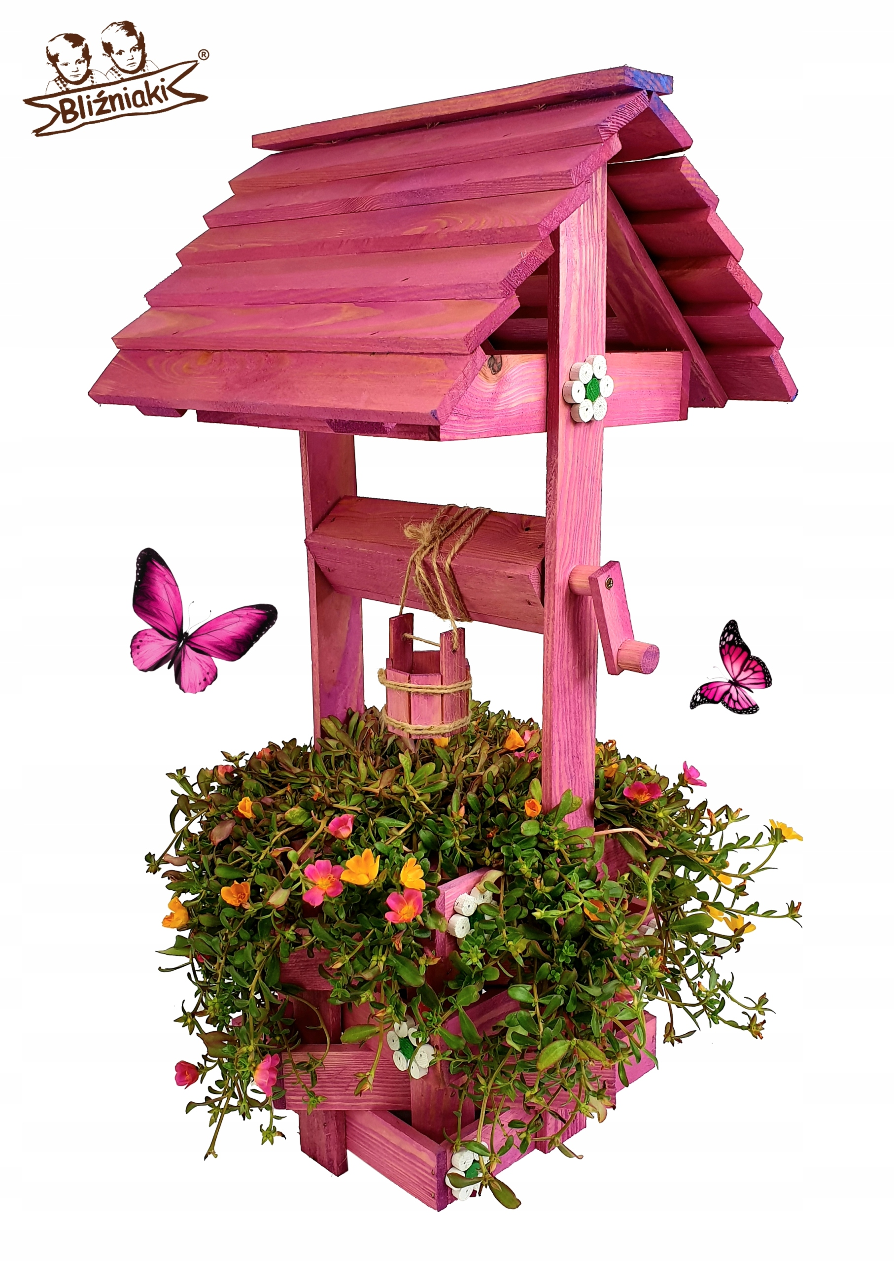 Aj drevený Záhradný dekoratívny 79 cm MIX Farieb