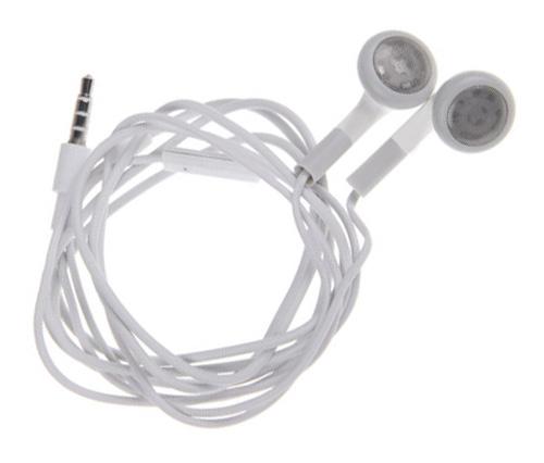 Słuchawki Douszne 120cm Uniwersalne MP3 Mikrofon