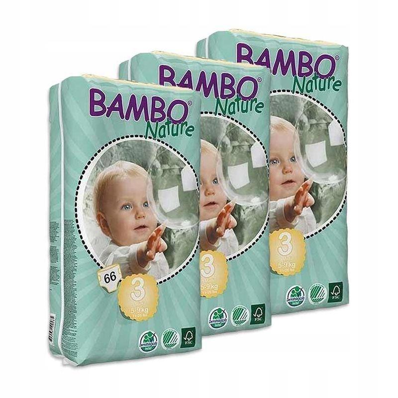 Эко подгузники BAMBO NATURE 3 MIDI 5-9кг 198 шт