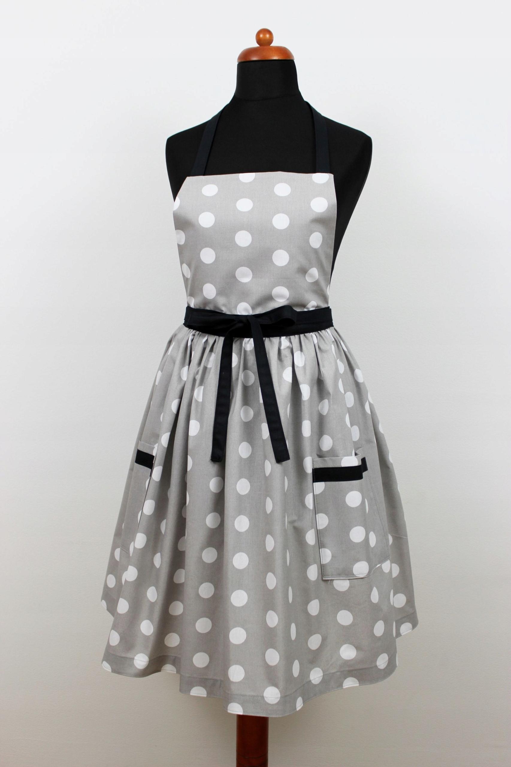 Zástera šaty polka dot retro vrecká