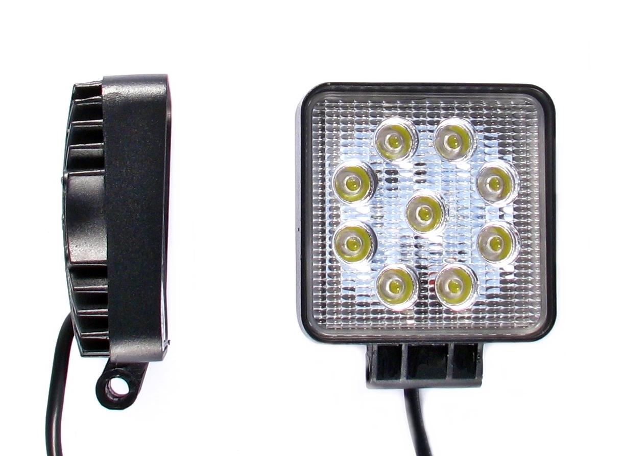 лампа рабочая 9 led 27w 12v 24v прожектора галоген