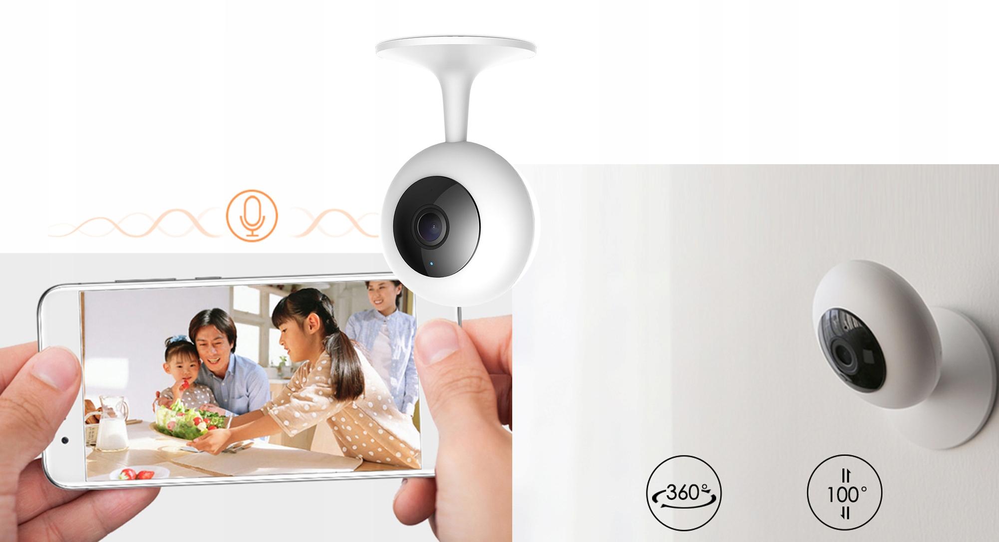 IMILAB MI HOME 1080p H.265 Kamera IP 64GB NIANIA Rozdzielczość 2 Mpx
