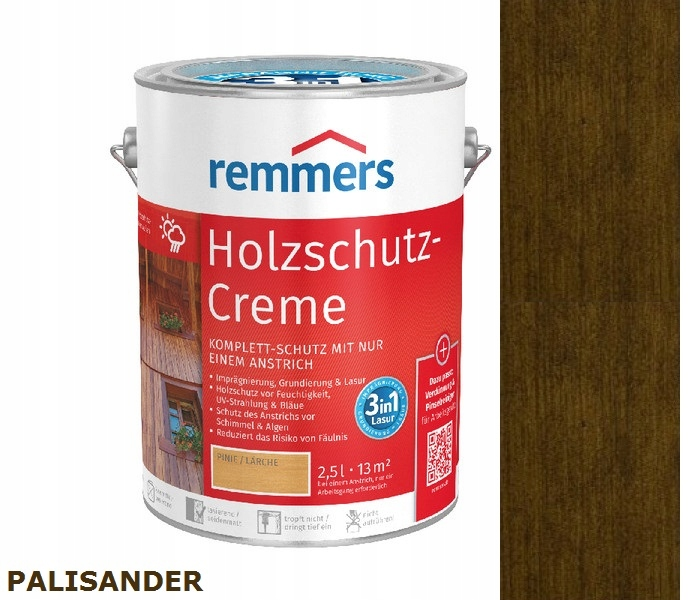 HOLZSCHUTZ-CREME REMMERS 2.5 l ROSEWOOD