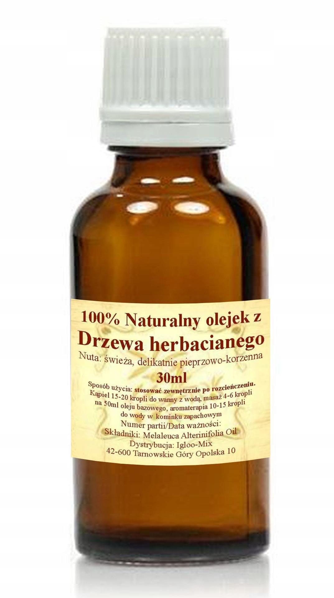 100% OLEJEK ETERYCZNY Z DRZEWA HERBACIANEGO 30ml