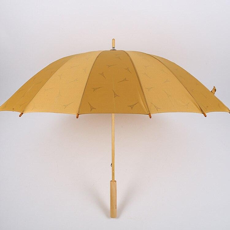Elegantný Vintage retro drevený dáždnik 108 CM