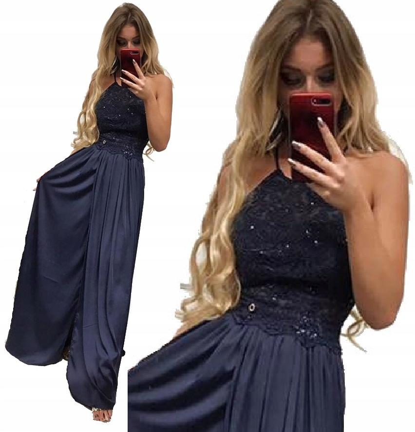 Kobieca Suknia Maxi Odkryte Plecy Sukienka Wesele