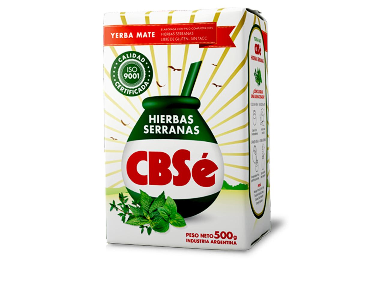 Купить Yerba Мате CBSE HIERBAS SERRANAS 500g, травяной на Otpravka - цены и фото - доставка из Польши и стран Европы в Украину.