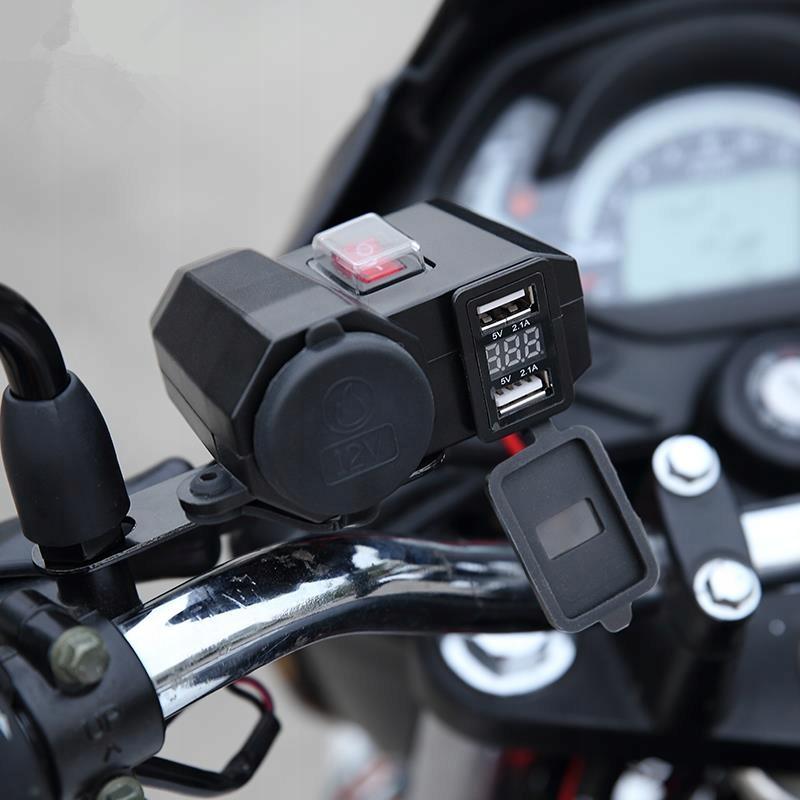 гнездо прикуривателя мотоцикл woltomierz 2xusb 5v2a, фото