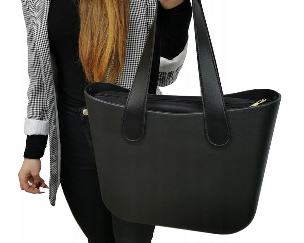 Женская сумочка Jelly Bag Shopper на плече черная