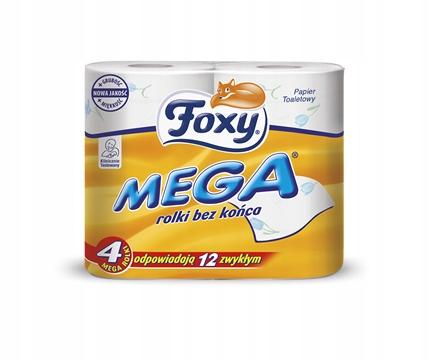FOXY МЕГА туалетная Бумага белая 4 шт 1033
