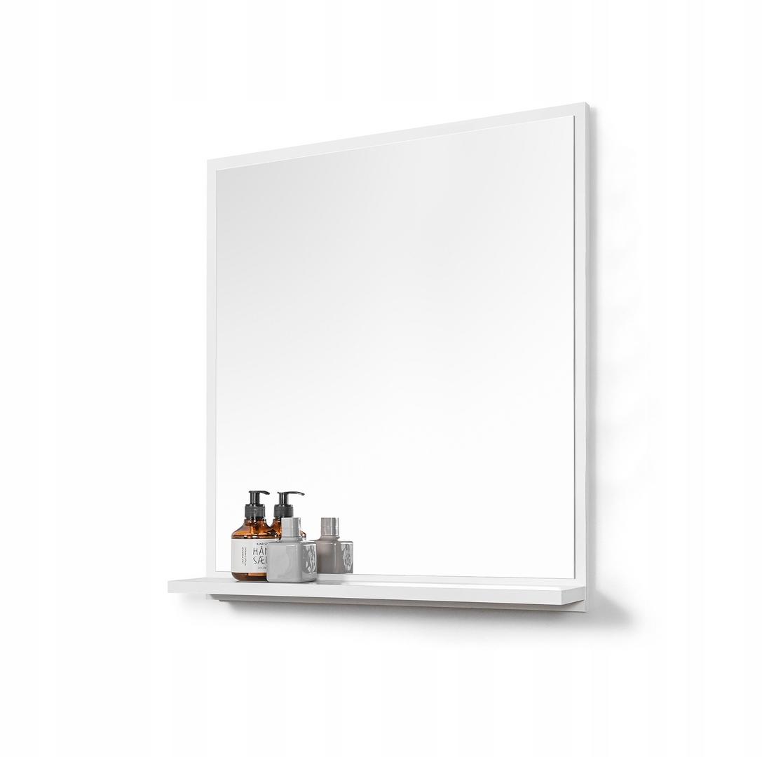 LUSTRO z półką lustro łazienkowe białe do łazienki