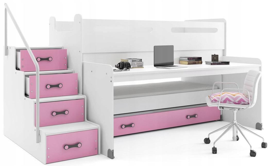Łóżko piętrowe MAX 1 200x80 dla dzieci duże BIURKO