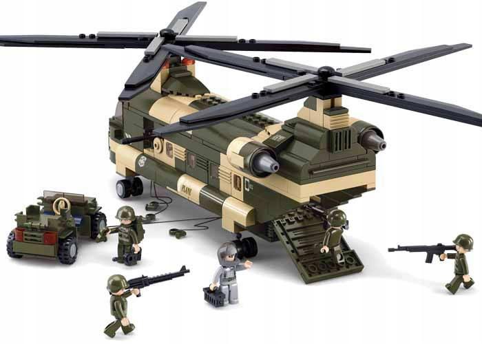 Sluban blokuje vojenský vojenský vrtuľník