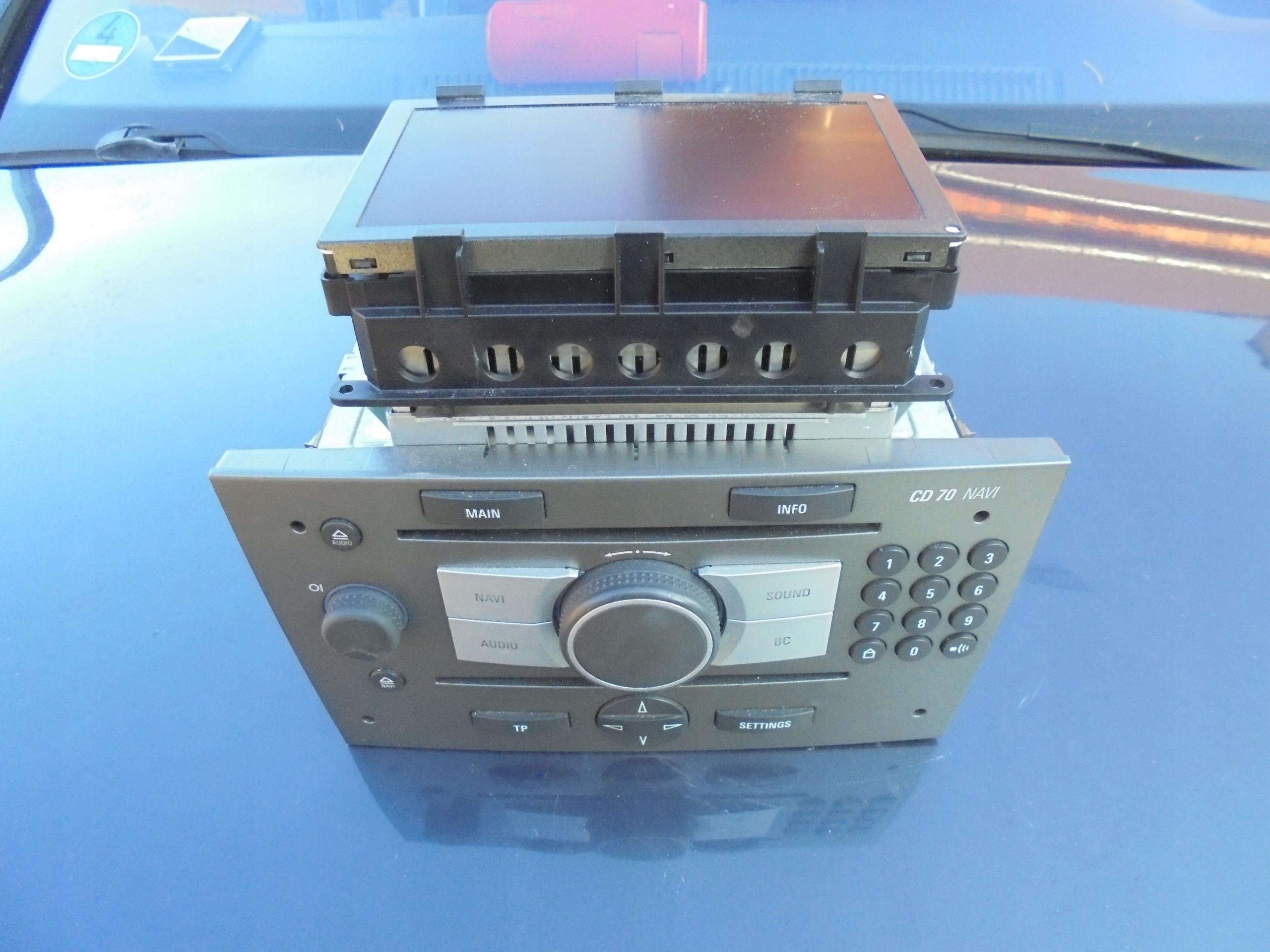 vectra c радио cd 70 navi   дисплей антенна