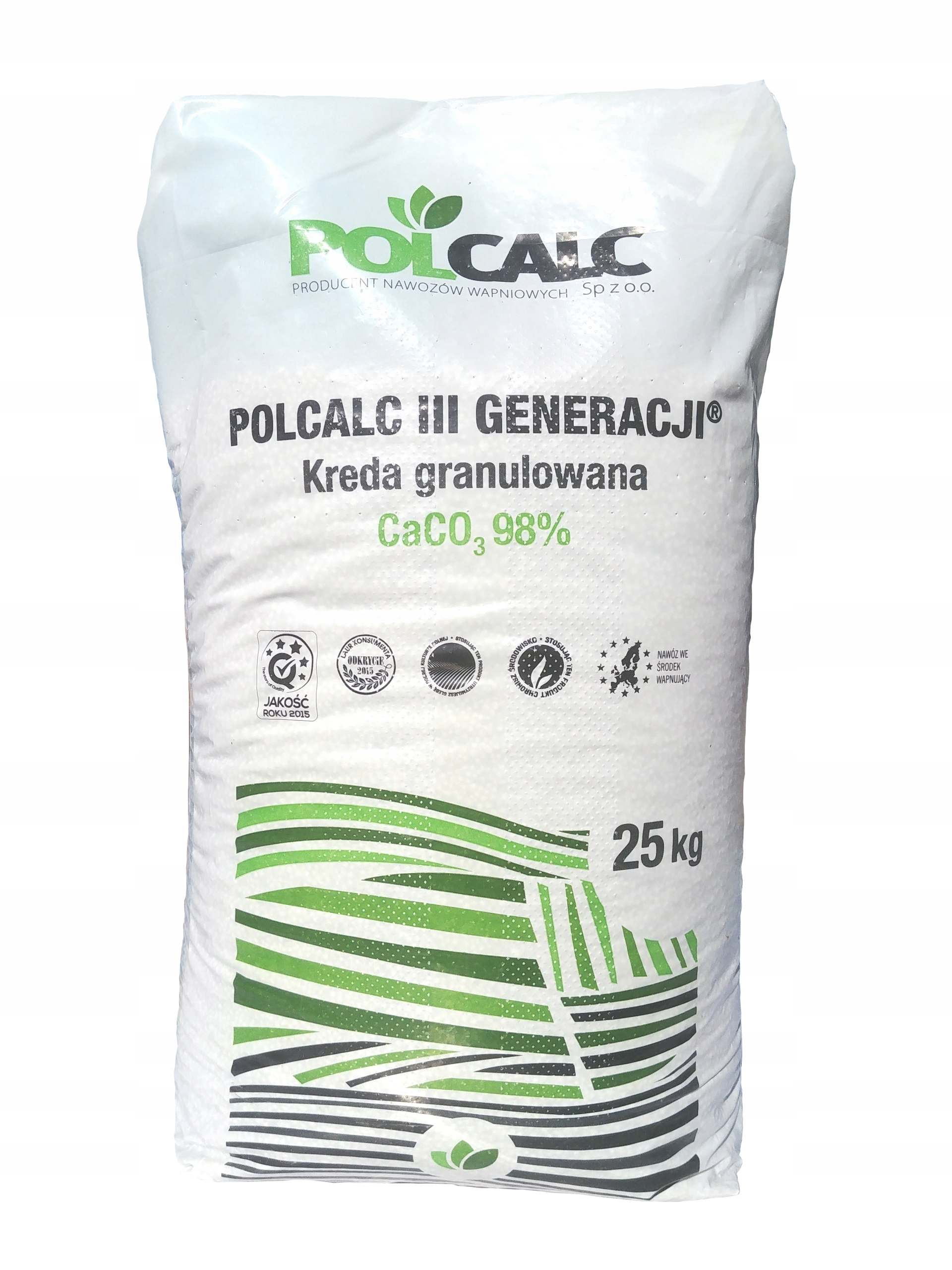 LIME GRANULATED УДОБРЕНИЕ 93-98%CACO3 POLCALC 25KG