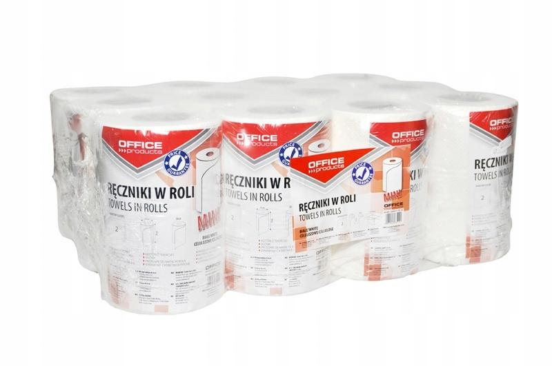 Ręcznik papierowy celuloza 50m biały 12szt
