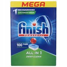 Finish All in 1 Таблетки для Посудомоечной машины 100 шт