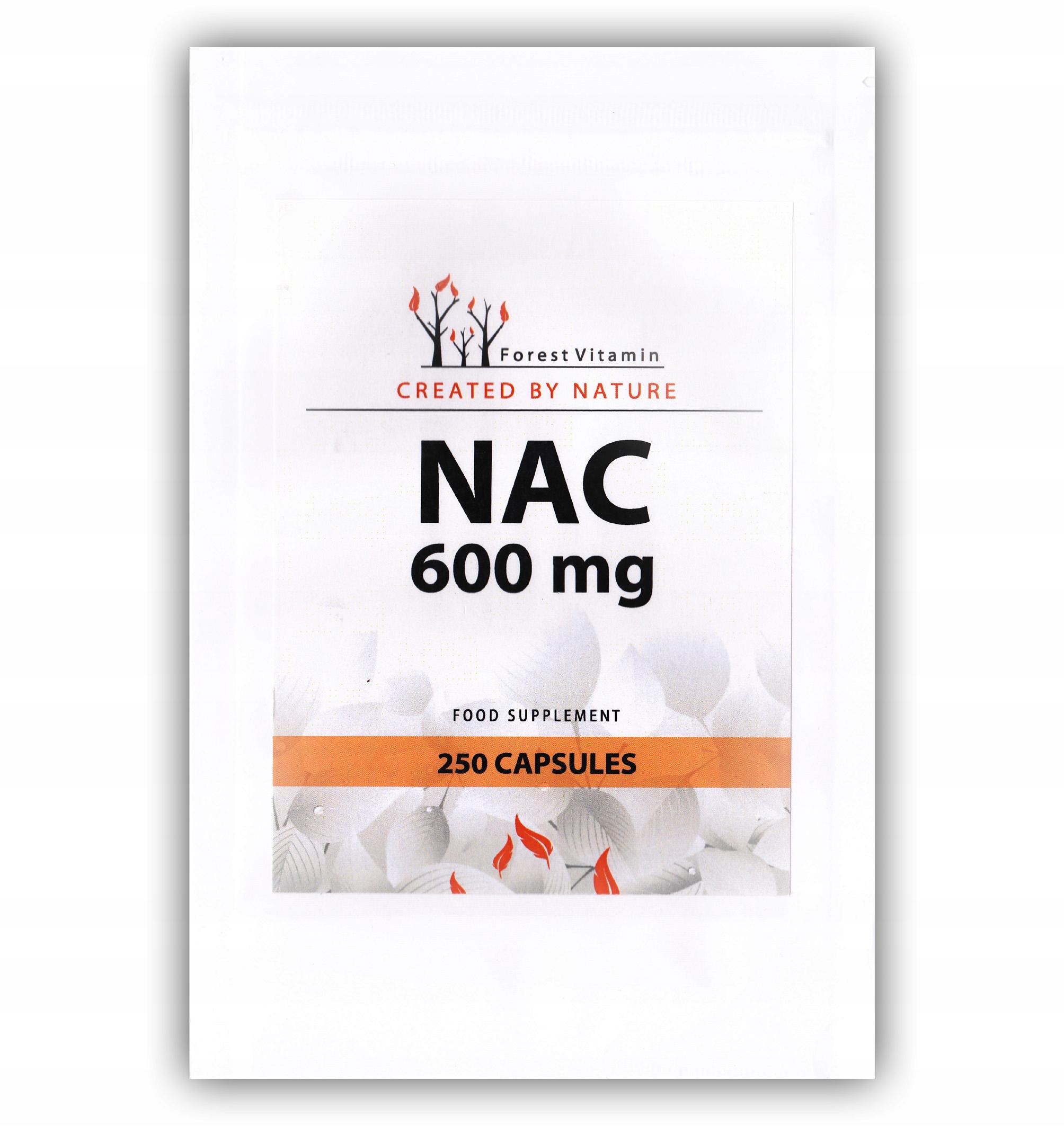 NAC N-ACETYLO L-CYSTEINA 600mg USUWA TOKSYNY 250 k
