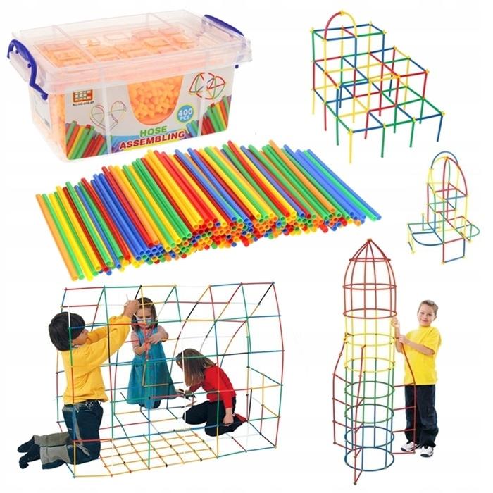 Konštrukcia Slamky Bloky Sticks Set 400el.