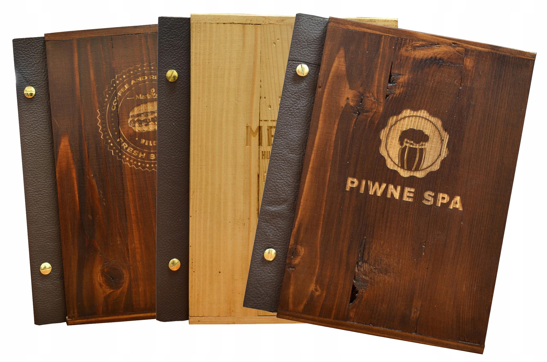 Kryt pre menu A5 zo starého dreva a kože