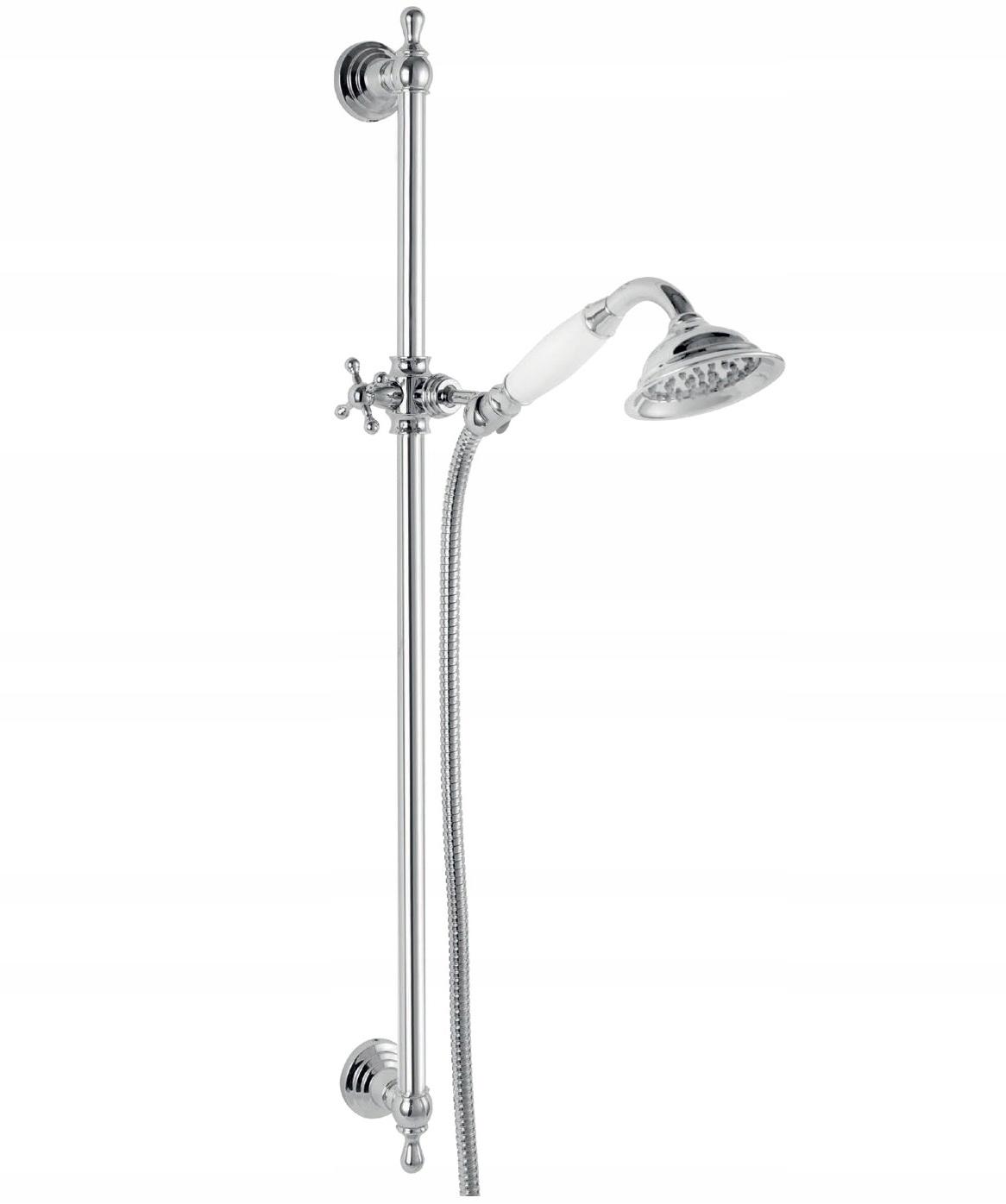 ŽELEZNÝCH RETRO N160 sprcha SET, CHRÓM/BIELA