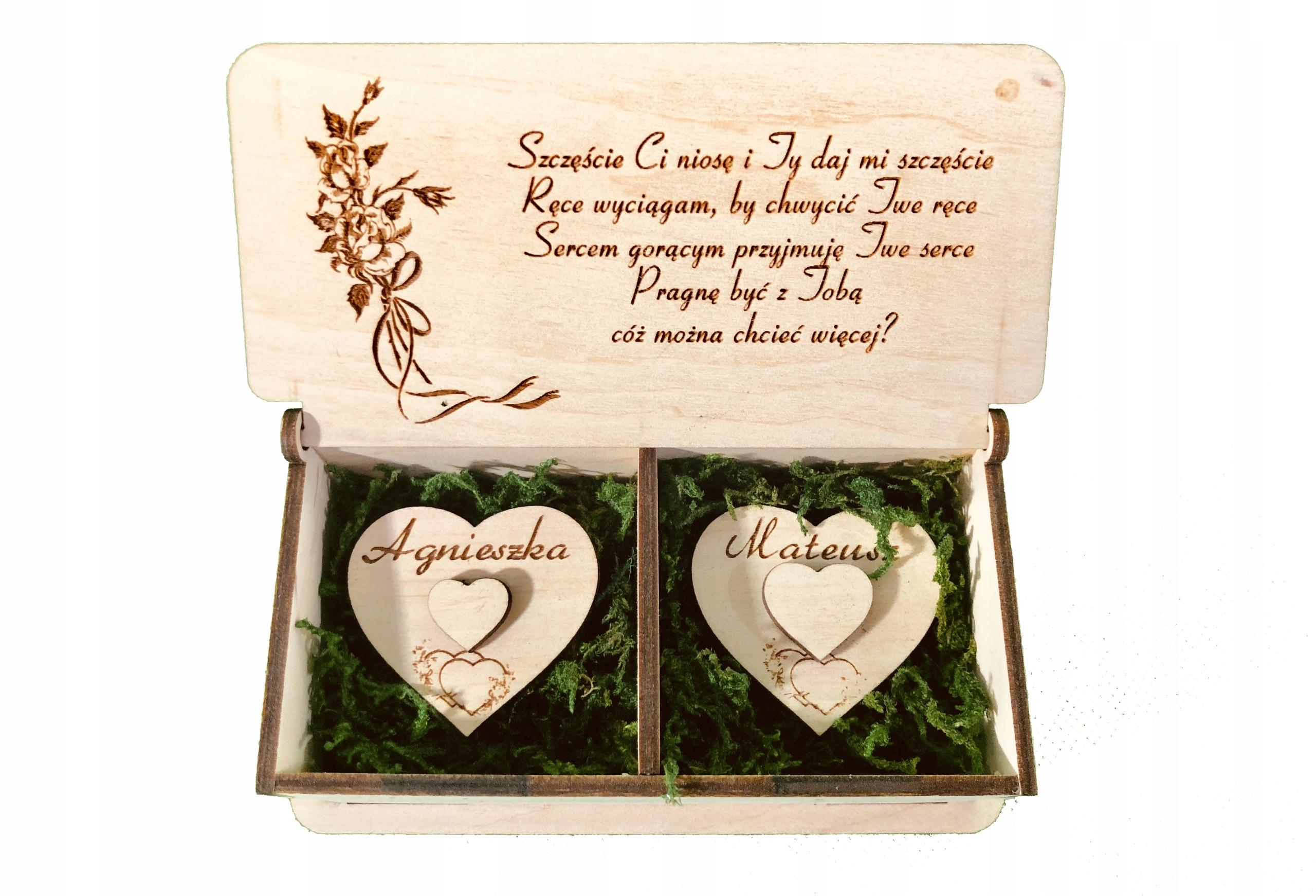 Купить Именная коробочка для обручальных колец ХИТ !!! на Otpravka - цены и фото - доставка из Польши и стран Европы в Украину.