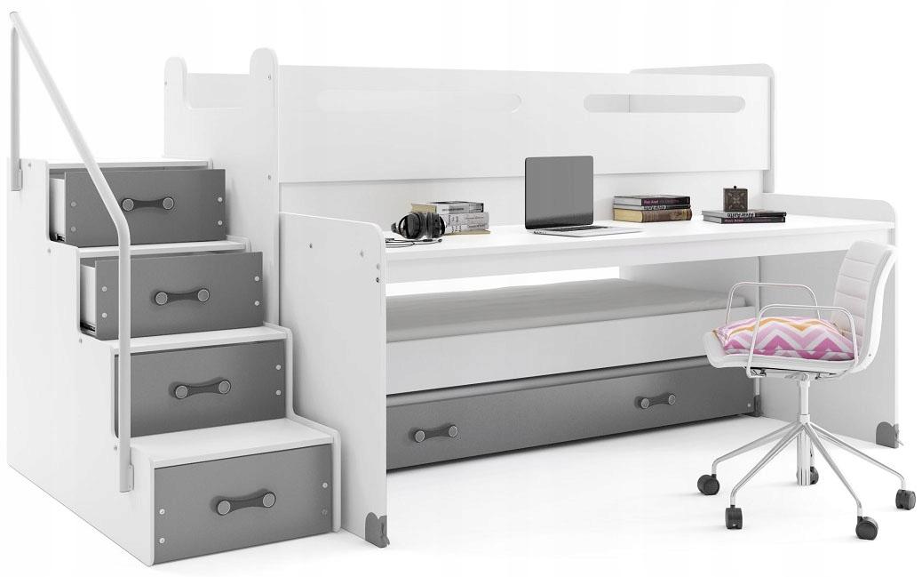 Кровать двухъярусная МАКС 1 200х80 детская со СТОЛОМ