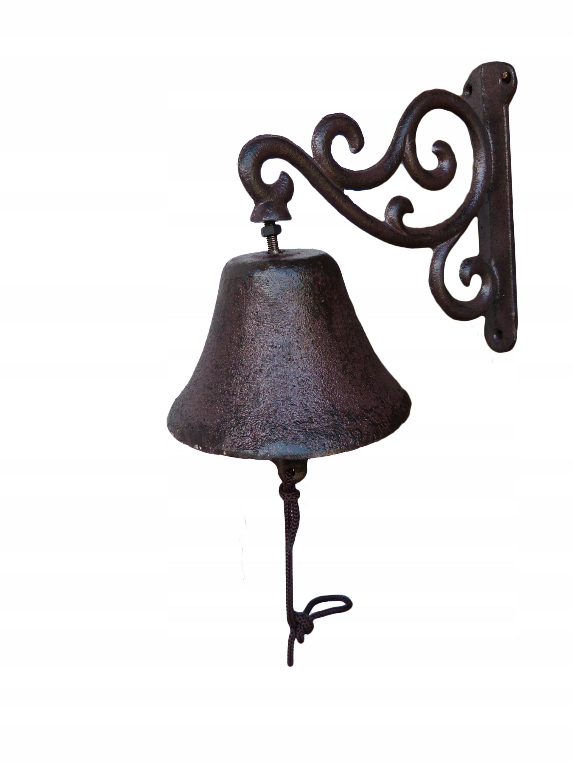 Zvonenie liatiny VINTAGE brown pekný zvuk