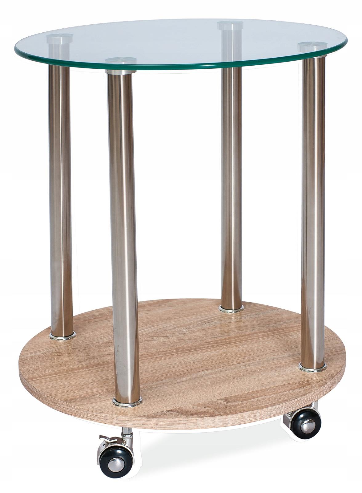 Konferenčný stolík na kolieskach Charles 50 cm bar sklo