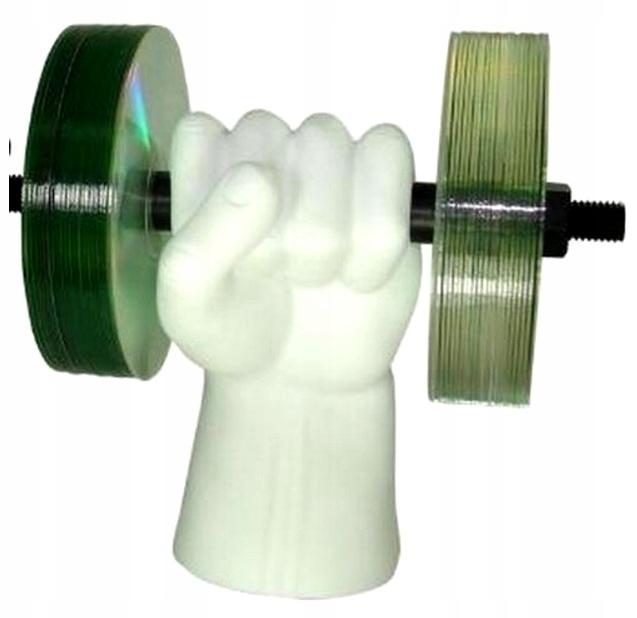 Silná ruka - Stojan na CD DVD Dumbbells Dumbbells
