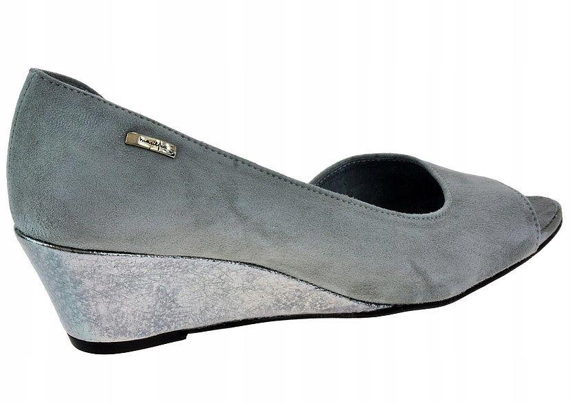 Czółenka Maciejka 2919 popiel 41 skóra soft buty