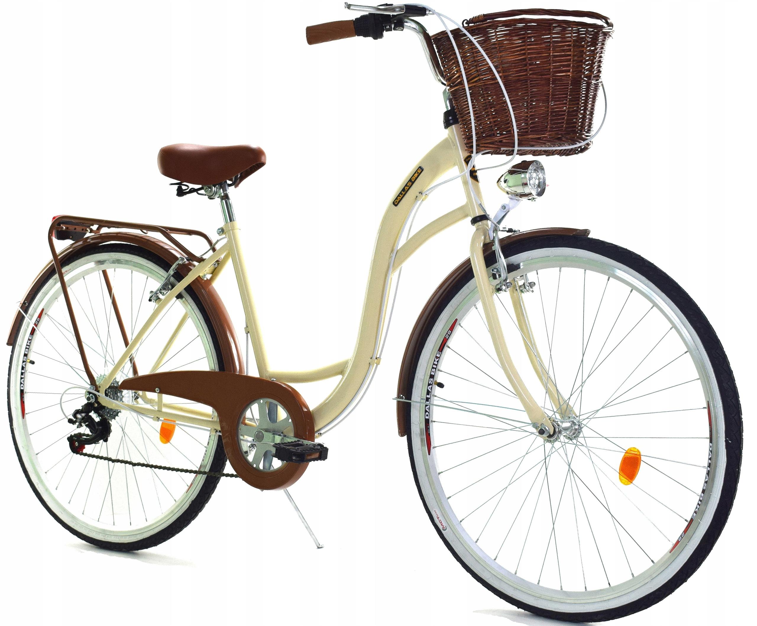 Miejski Rower Damski Dallas 26 28 6 Biegow Kremowy 6985608253 Allegro Pl
