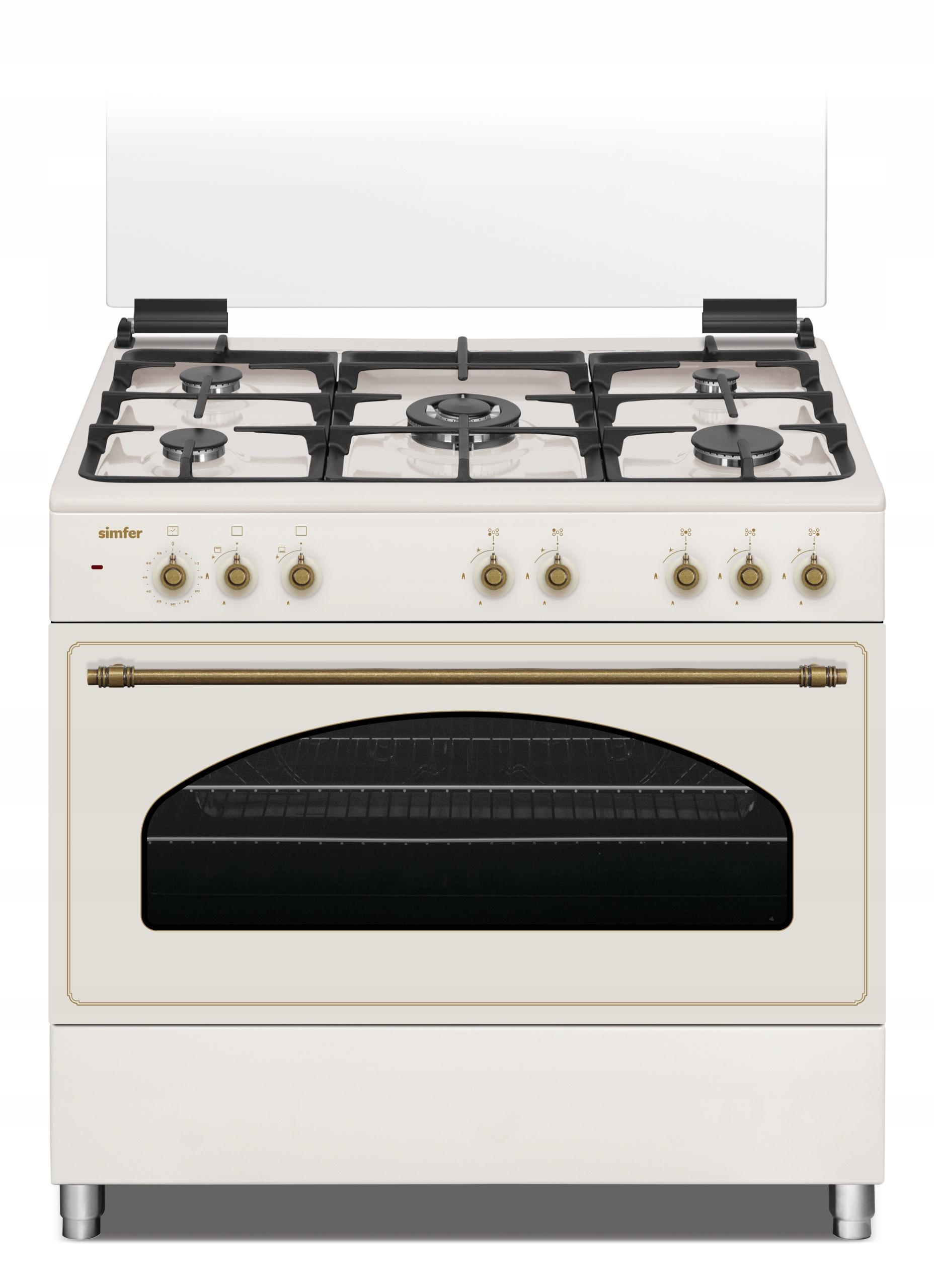 90cm retro plynová-elektrická kuchyňa 5 WOK