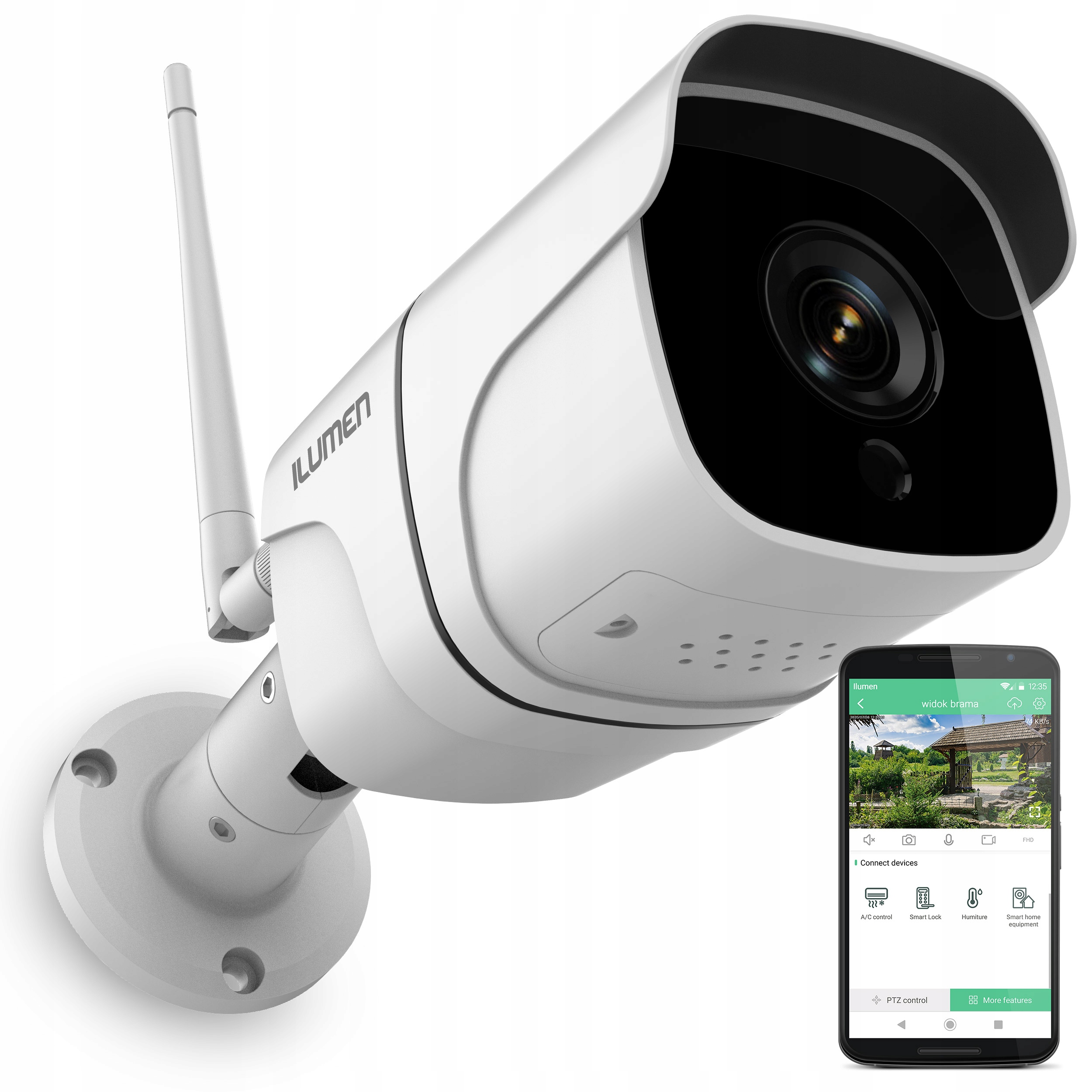 Kamera Zewnetrzna Wifi Noc Ip Full Hd 2mpx 1080p 8899910630 Sklep Internetowy Agd Rtv Telefony Laptopy Allegro Pl