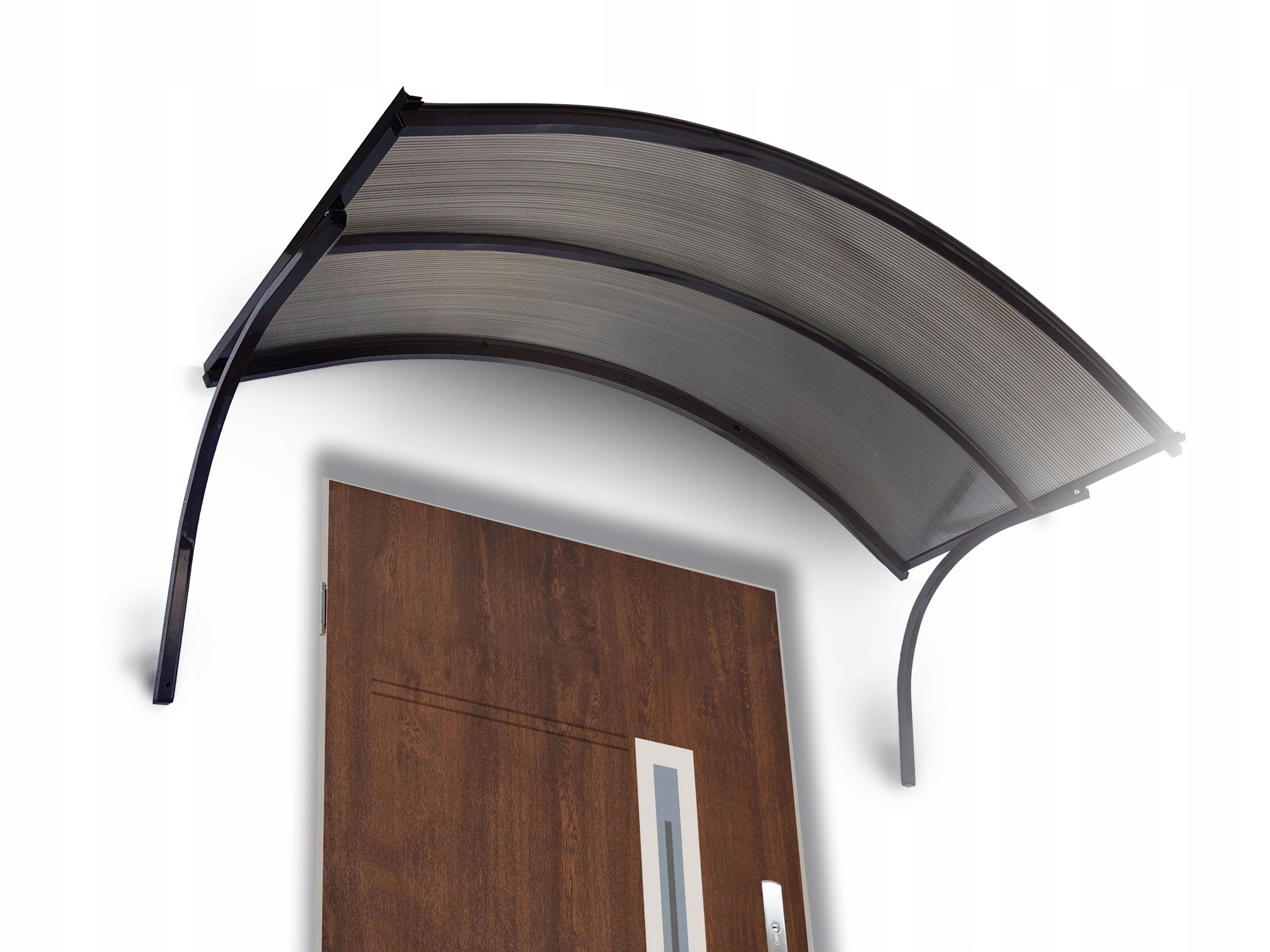 Strieška nad dvere, hliníkový prístrešok 170x25x90