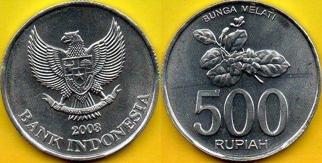 INDONEZJA 500 Rupiah 2003 r.