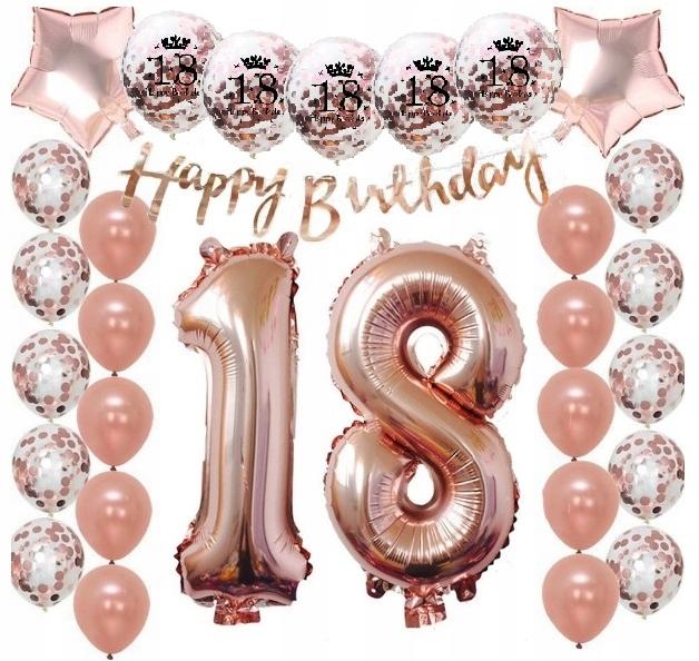 Zestaw Balony 18 Urodziny Osiemnastka Osiemnastke 8109094682 Allegro Pl