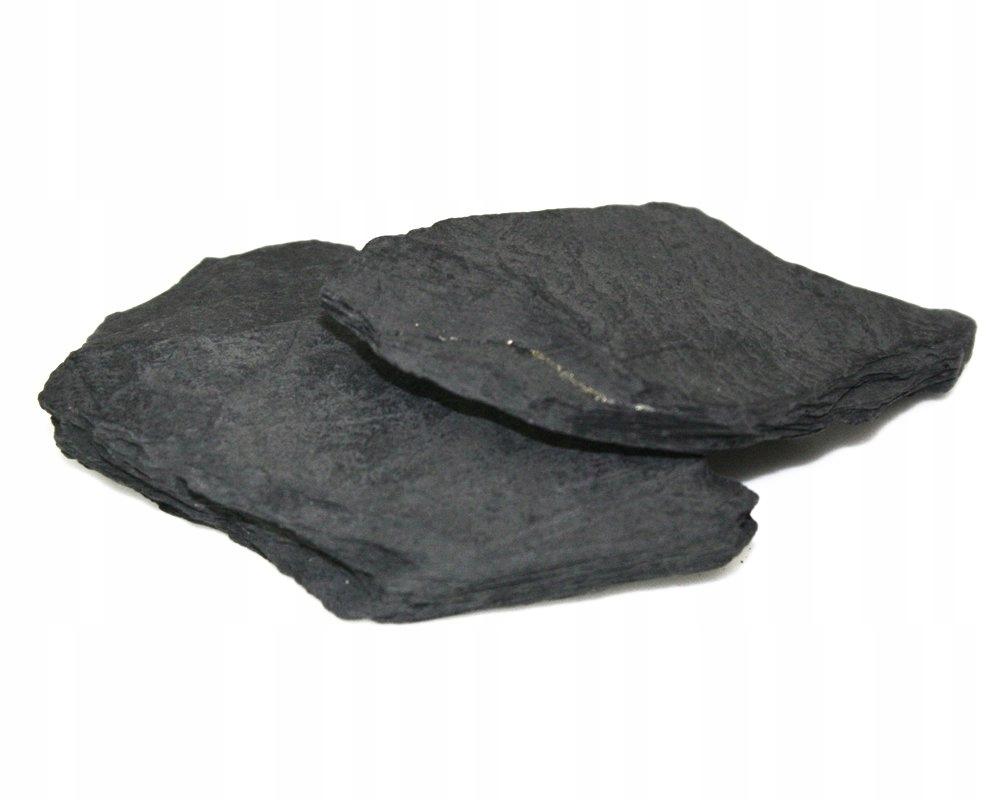 ČIERNE DLAŽDICE PLOCHÝ KAMEŇ AKVÁRIUM TIPY, 10 kg