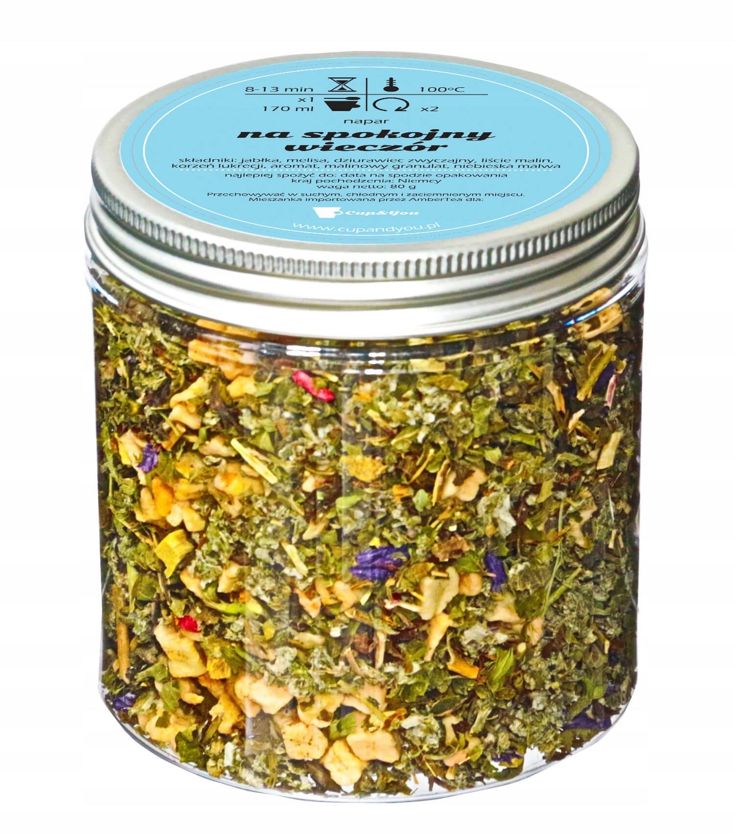 Herbata ziołowa uspokajająca - Na spokojny wieczór