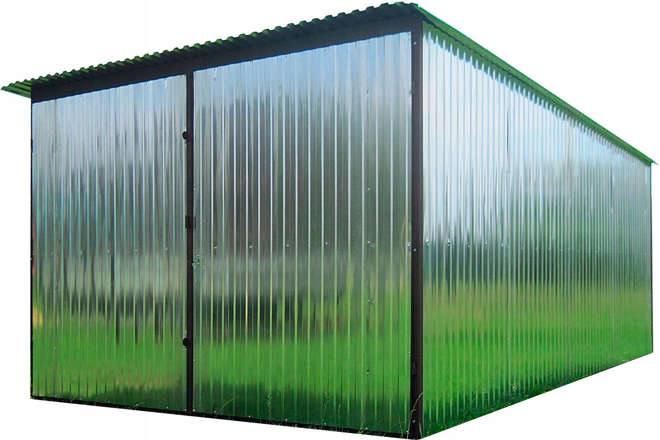 Жестяной одноярусный гараж (жестяной гараж) 3 х 5 м